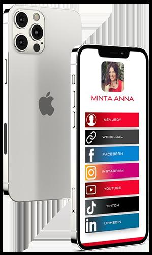 social media card profil