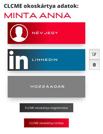 közösségi média social media card